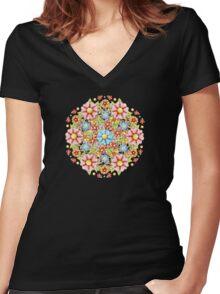 Boho Chic Millefiori Women's Fitted V-Neck T-Shirt