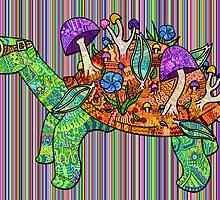 Rainbow Mushroom Tortoise  by SarahCorgii