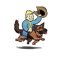 Vault boy and Dogmeat Photographic Print
