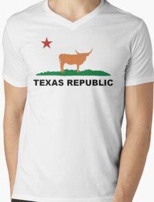 Texas Republic  Mens V-Neck T-Shirt