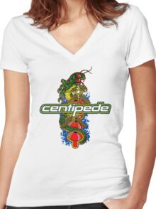 Centipede Women's Fitted V-Neck T-Shirt