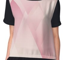 Pink Layered Triangles Chiffon Top