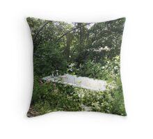 Outdoor Bathing Throw Pillow