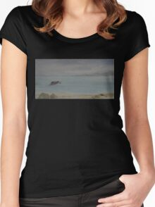 Red Boat Moored WC20150714b Women's Fitted Scoop T-Shirt