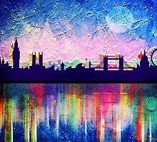 London in blue  by motiashkar