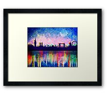 London in blue  Framed Print