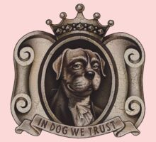 In Dog We Trust (emblem)     Kids Tee