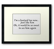 See him again  Framed Print