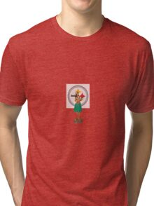 Hula Girl with Steelers Tri-blend T-Shirt