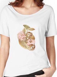 Gold Heart Women's Relaxed Fit T-Shirt