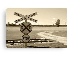 Rural Railway Crossing Canvas Print