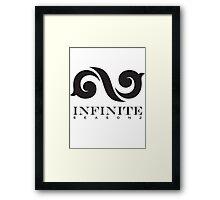 """Infinite """"black"""" Framed Print"""