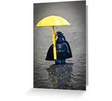 Darth in the Rain Greeting Card