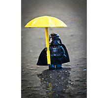 Darth in the Rain Photographic Print