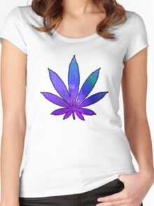 Space Weed Women's Fitted Scoop T-Shirt