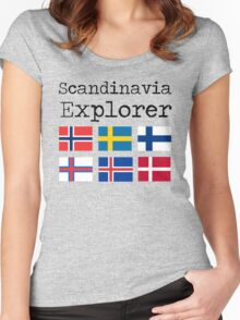Scandinavia Explorer Women's Fitted Scoop T-Shirt