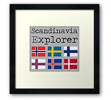 Scandinavia Explorer Framed Print