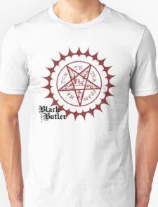 Black Butler: Ciel and Sebastian Pentagram  T-Shirt
