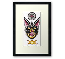 BAT FLASH Framed Print