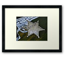 New Sheriff in Town  Framed Print