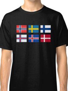 Scandinavian flags Classic T-Shirt
