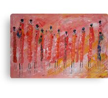 Masai Woman Dancing Canvas Print
