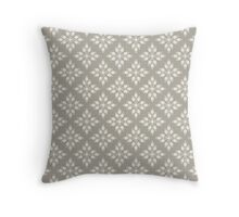 Star Burst Tulips in Granite Throw Pillow
