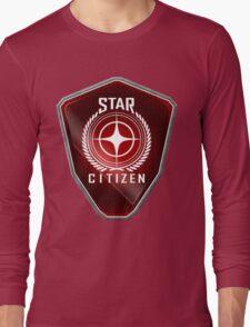 Star Citizen Logo - Red Long Sleeve T-Shirt