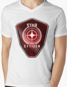 Star Citizen Logo - Red Mens V-Neck T-Shirt