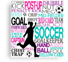 Words of football Canvas Print