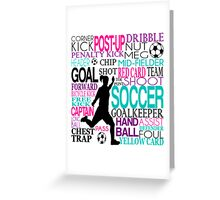 Words of football Greeting Card