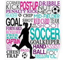 Words of football Poster