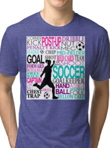 Words of football Tri-blend T-Shirt