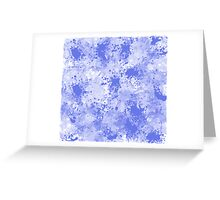 Blue Watercolor Paint Splatter Abstract Greeting Card