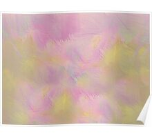 Soft Pastel Feathered Abstract Poster
