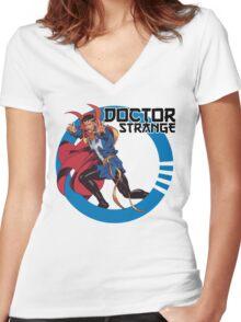 Doctor Strange •Circle Art Women's Fitted V-Neck T-Shirt