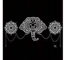 Elephant Mandalas Photographic Print