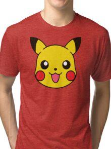Pikachu Pattern Tri-blend T-Shirt