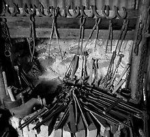 Blacksmiths shop. Hill End by Ian Ramsay