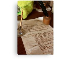 The recipe, Hill End Canvas Print