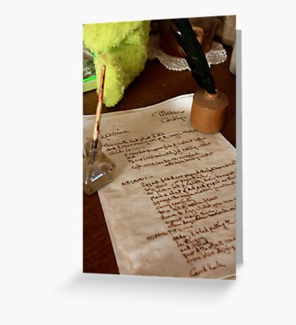 The recipe, Hill End Greeting Card