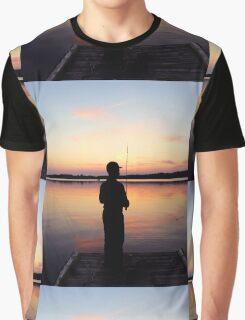 Lake Sunset Graphic T-Shirt
