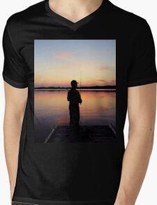 Lake Sunset Mens V-Neck T-Shirt