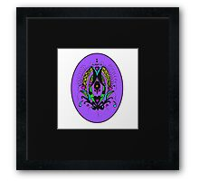 Miniature Aussie Tangle 11 coloured Version 1 Framed Print