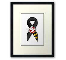 GB Tribute Ribbon Ver.2 (Face) White Framed Print