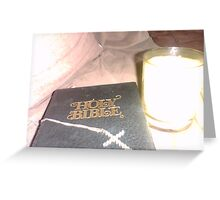 Bible Cross Candle Greeting Card