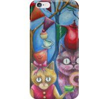 cats wonderland tea party iPhone Case/Skin