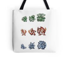 Starter Pokemon evolutions Tote Bag