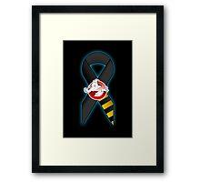 GB Tribute Ribbon Ver.2 (Face) Black Framed Print