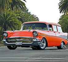 1957 Chevrolet Bel Air Wagon 'In the Palms' by DaveKoontz